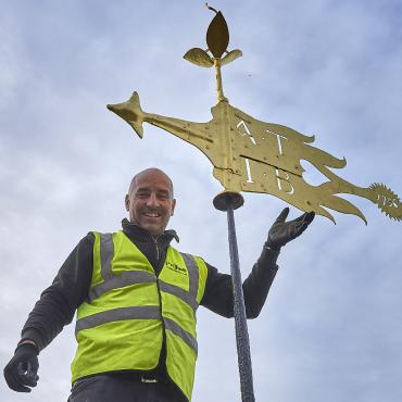 Restoration of ancient weathervane